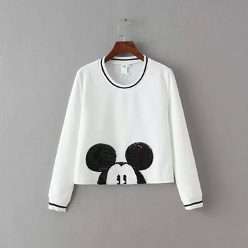 Mickey Mouse Sequined  Sweater