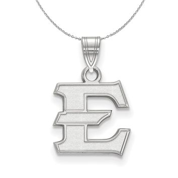 NCAA Sterling Silver East Tennessee State Small Pendant Necklace