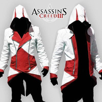 Cosplay Props Assassins creed III 2 3 4 5 Altair¡¢Ezio¡¢Kenway¡¢Connor Fashion Jacket&Necklace Hoodie College Student Sportswear [9222177988]