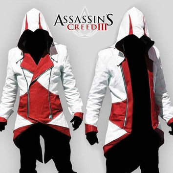 Cosplay Props Assassins creed III 2 3 4 5 Altair¡¢Ezio¡¢Kenway¡¢Connor Fashion Jacket&Necklace Hoodie College Student Sportswear [9305814855]