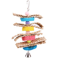 Parrot Toys Pet Bird Bites Climb Chew Toys Parakeet Budgie Hanging Swing Pet Toy Supplies