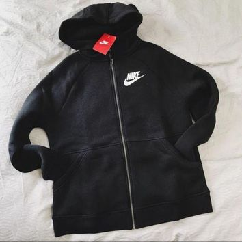 DCKKID4 Nike Black Zip Up Hoodie Jacket Sweater Sweatshirts