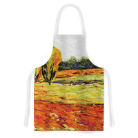 "Jeff Ferst ""Summer Breeze"" Orange Foliage Artistic Apron"