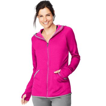 Hanes Sport Women's Performance Fleece Zip Up Hoodie