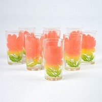 Patina Vie Vintage Floral Glasses, Set of 9