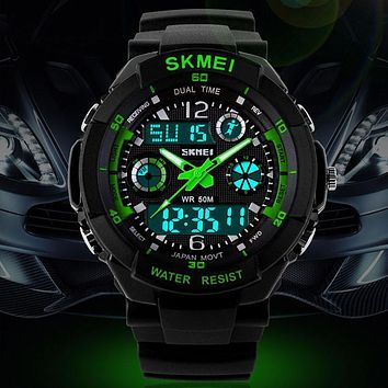 Skmei Digital Men Watch Analog S Shock Men military army Watch water resistant Date Calendar LED Sport Watches relogio masculino