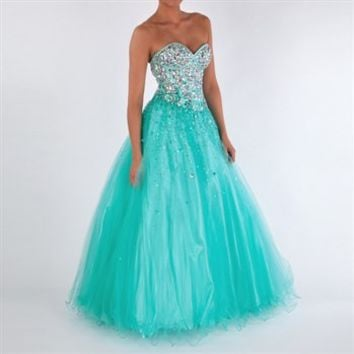 Jovani Juniors Bling Bodice Ball Gown at Von Maur