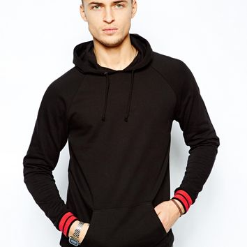 ASOS Hoodie With Fixed Hem And Contrast Cuffs