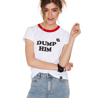 Dump Him Print Short Sleeve Graphic T-shirt