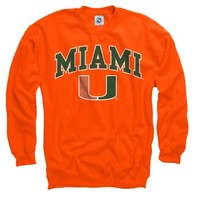 Miami Hurricanes Orange Perennial II Crewneck Sweatshirt