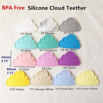 Chenkai 20PCS BPA Free Silicone Cloud Teether DIY Baby Shower Pacifier Dummy Sensory Grasping Jelwery Toy Accessory
