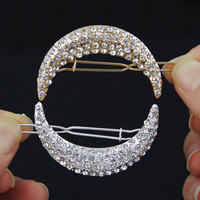 Crystal Moon Rhinestone Hair Accessories For Women Hair Clips For Girls
