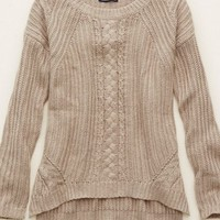 Aerie Women's Cable Knit Pullover Sweater