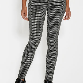 the smart skinny patterned ankle pant with slimming technology