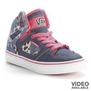 7e5e14d1b1a2d8 Vans Allred Cheetah Denim High-Top Skate Shoes - Girls