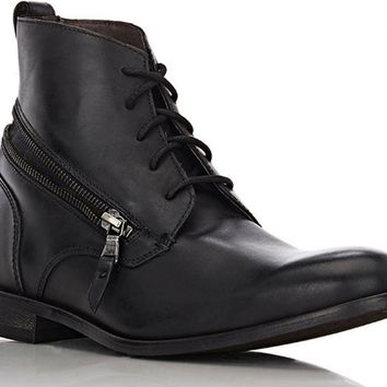 JOHN VARVATOS Star Zip Wrap Black Leather Boot
