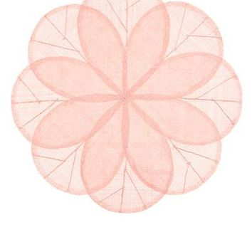 Sinamay Flower Placemat | Pink