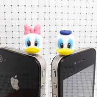 Donald Daisy Duck Disney Cartoon Anti Dust Plug by Polaris798