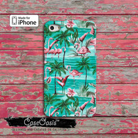 Flamingo Flower Pattern Custom iPhone 4 and 4s Case and Custom iPhone 5 and 5s and 5c Case