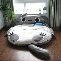 290*160cm Huge Comfortable Cute Cartoon Totoro Bed Sleeping Bag Pad