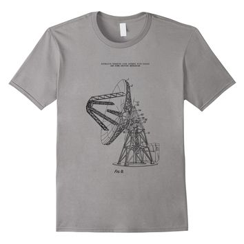 Satellite Dish Disk Patent Art Tee T-shirt