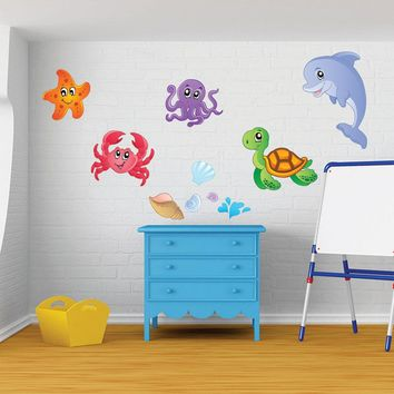 Sea Animal Set II Wall Decal