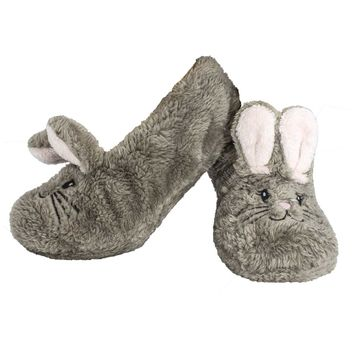 Shea Butter Fuzzy Animal Slippers Bunny