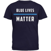 Police Blue Lives Matter Thin Blue Line Navy Youth T-Shirt