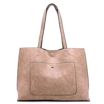 Fashion Front Pocket Reversible Tote  Back
