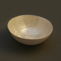 Ceramic Mother of Pearl Bowl for Pearl Wedding anniversary or Mothers Day Gift