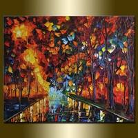 Original Textured Palette Knife Landscape Painting by willsonart