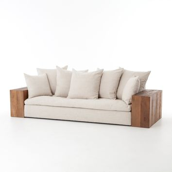 LORENZO SOFA - LINEN NATURAL