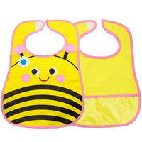 Waterproof Baby Burp Cloths Infant Dribbler Nest Solutions Bibs(Bee)