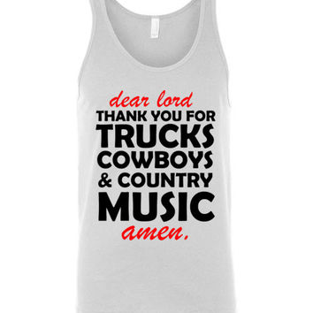 Lord Trucks Cowboys and Country Music Unisex Tank Top
