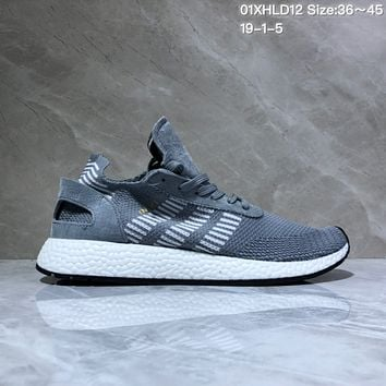 DCCK A525 Adidas Inik Runner PK Boost Mesh Running Shoes Dark Gray