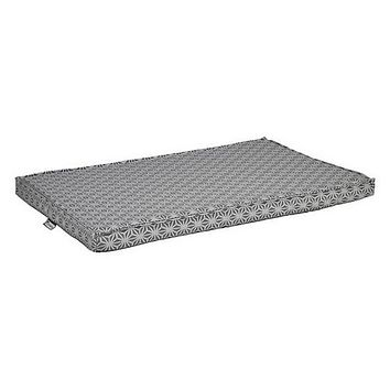 Micro Jacquard Cool Gel Memory Foam Mattress Crate Pad — Mercury