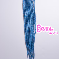 Sky Blue U-Tip Synthetic Dreadlocks (10 pieces)
