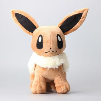 "High Quality Pikachu Soft Stuffed Cosplay Plush Toys 12"" 30 CM Anime Cute Rare Eevee Soft Toys For Children Peluche Dolls"