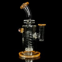 Bronx Glass Peach Showerhead Rig