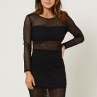 Blurred Lines Body Con Dress