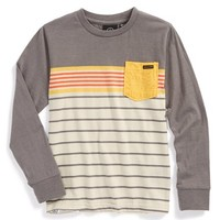 Boy's Volcom 'Skape' Stripe Long Sleeve T-Shirt,