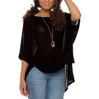 Kayla Oversized Top - Black