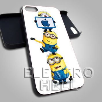 Minion with Apple Logo - iPhone 4/4s/5 Case - Samsung Galaxy S3/S4 Case - Black or White