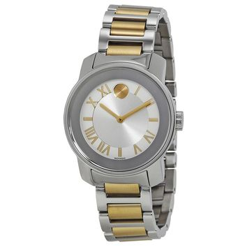 Movado Bold Silver Dial Silver - Gold tone Stainless SteelLadies Quartz Watch