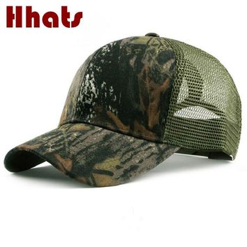 Trendy Winter Jacket Fashion outdoor camping hiking bionic summer baseball cap for men breathable camo mesh cap male snapback hat   AT_92_12