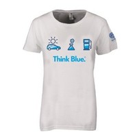 Genuine Volkswagen Ladies Think Blue Tee Shirt - Size Large