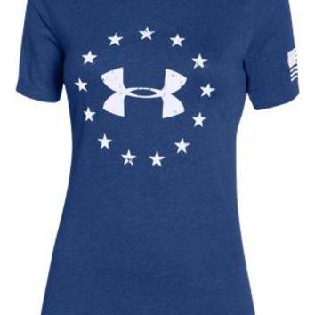 Under Armour Freedom Logo Tactical T-Shirt for Ladies