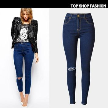 DCCK0OQ Ripped Holes Jeans Slim Baggy Jeans Pants Plus Size Skinny Pants [8864418567]