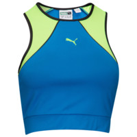 PUMA Extreme Crop Tank - Women's - PUMA - Graphic Tanks - Women's - Casual - Clothing - Plate Blue | Lady Foot Locker