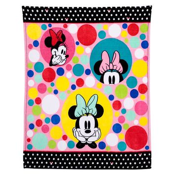 Disney's Minnie Mouse Plush Throw by Jumping Beans (Pink)